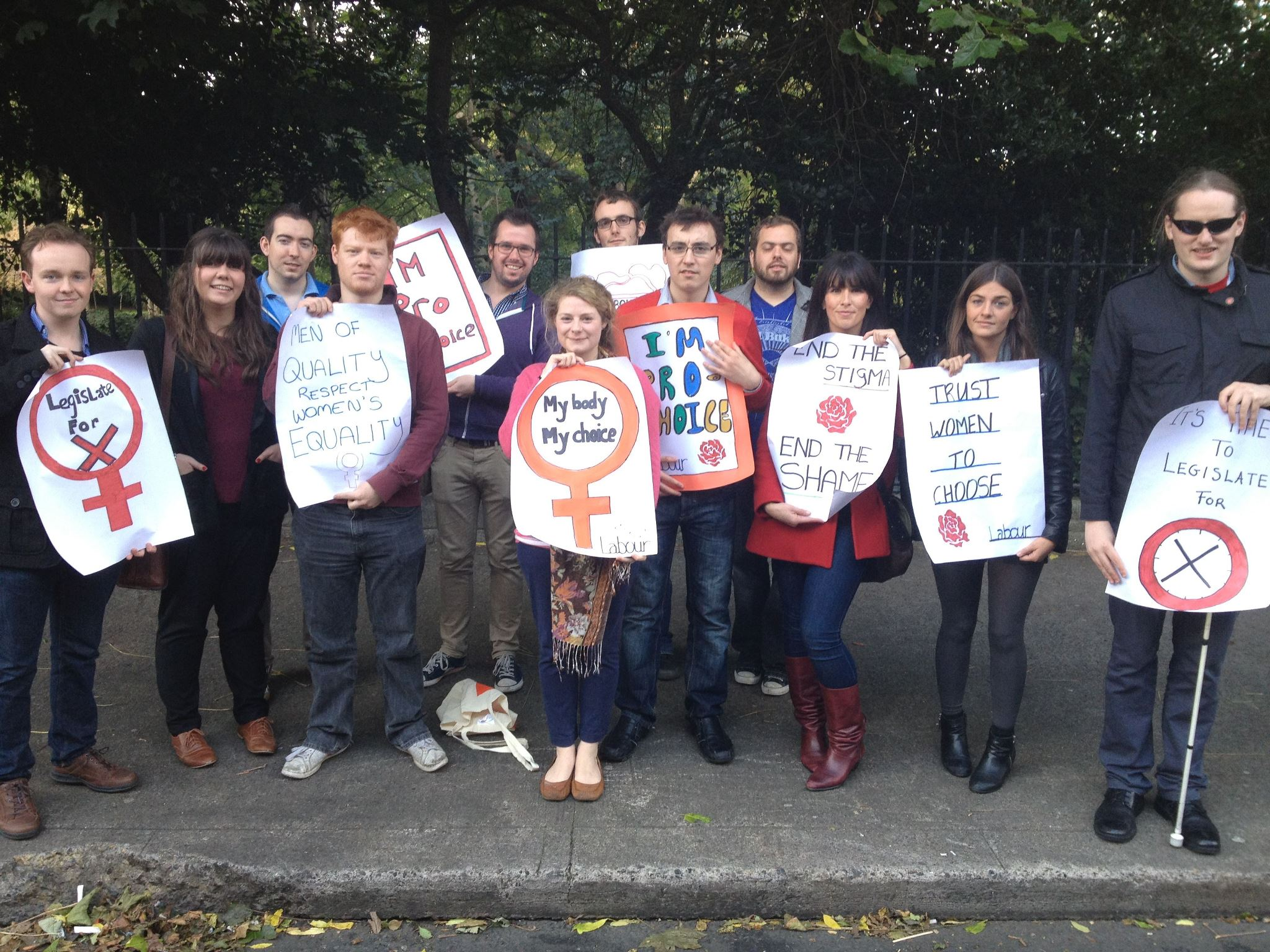 Labour Youth members following the March for Choice, Dublin (29 September 2012)